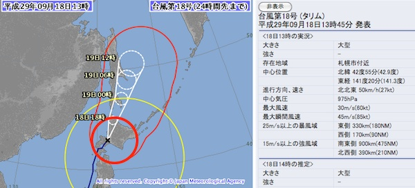 2時過ぎ台風