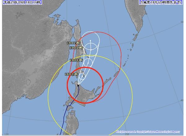 5時前台風