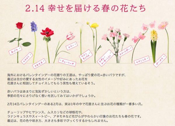 バレンタインの花