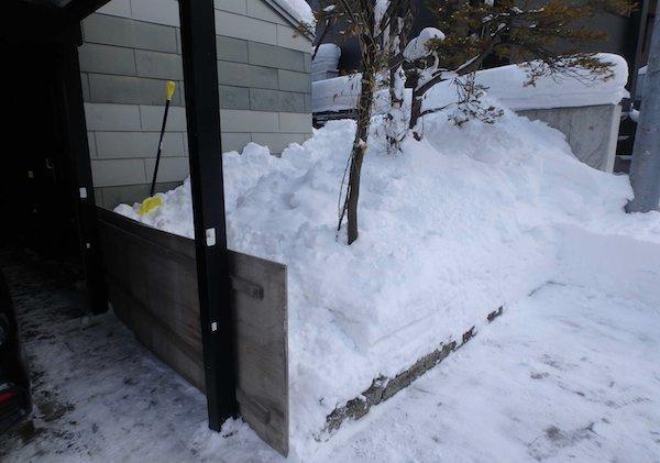 雪止め設置