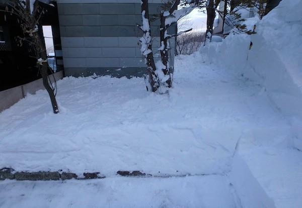 雪はね完了