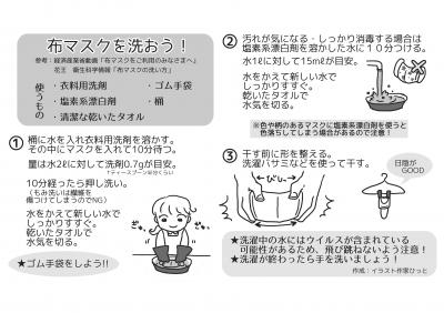 布マスク洗モノクロ