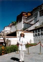 佳子チベットにて