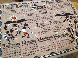 2013年カレンダー ジュート ココペリ