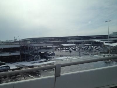 雪の成田空港