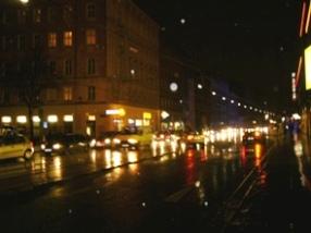 ホテル近くのRennweg周辺の夜景