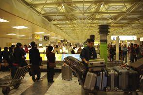 ウィーン空港手荷物受取所