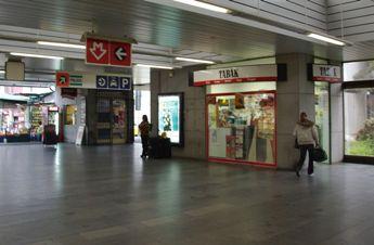 プラハ ホレショヴィツェ駅 売店