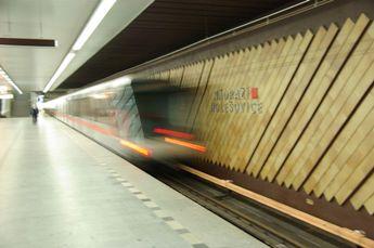 ホレショヴィツェ地下鉄駅ホーム