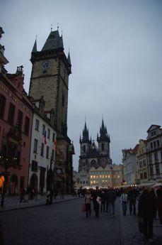 旧市街広場の夕景
