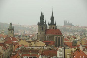 火薬塔からのプラハ城の眺め