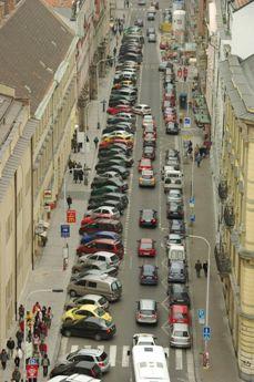 プラハの路上パーキング