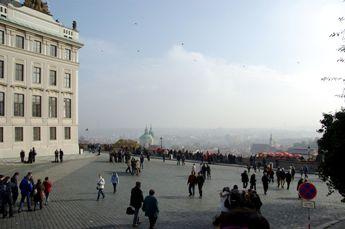 プラハ城前からプラハの眺め