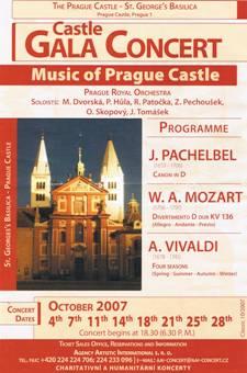 プラハ城コンサートパンフ