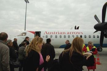 ウィーン行きの飛行機