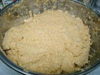 味噌作り2009年2月 材料を混ぜ合わせる