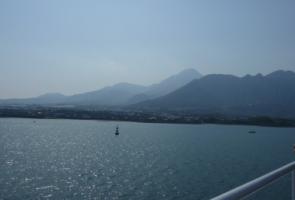 オーシャンアロー船上より島原