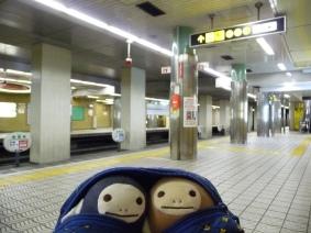 谷町四丁目駅にて