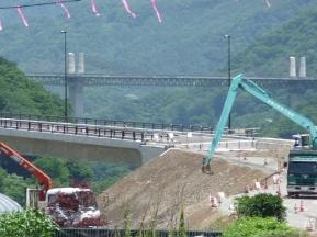 ダム建設現場 2010年7月