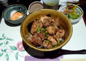 鳥仙 ランチ 鶏唐揚げ丼