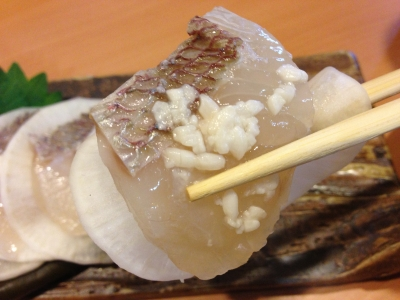 鯛と大根の塩麹昆布〆