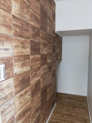 新築住宅 建築中 LDK リビング 白い家 2世帯住宅 沼津市 R 梁  ワインボックス柄クロス パントリー