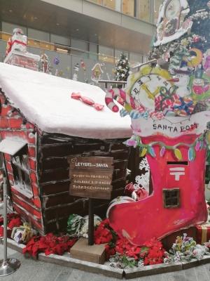 二子玉川 ライズ クリスマス クリスマスツリー goen 森本千絵 さんたPOST   手紙 letter for santa クリスマスタウン