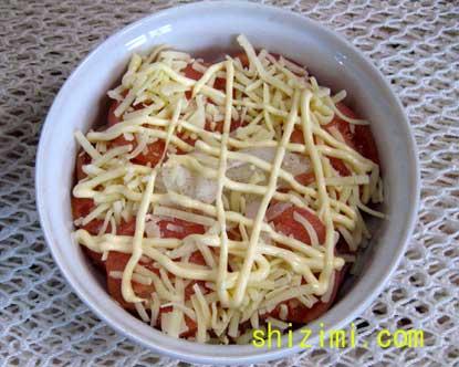 トマトとシジミのグラタン風