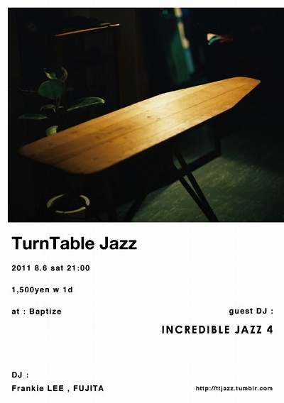 delta market デルタ マーケット Baptize TurnTable Jazz INCREDIBLE JAZZ 4