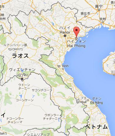 ハイフォン 地図 ベトナム