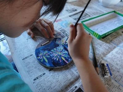 小石原焼の陶板アート