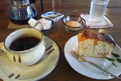 コーヒーと柚子のケーキ