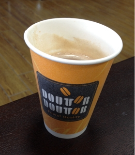 ドトールのカップコーヒー