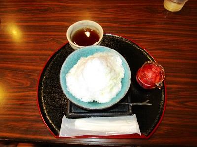 岡山城のかき氷
