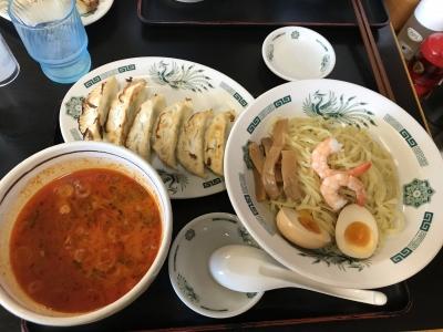 エビ辛とんこつつけ麺【日高屋】