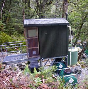 ニュージランドのトレッキングでのトイレ