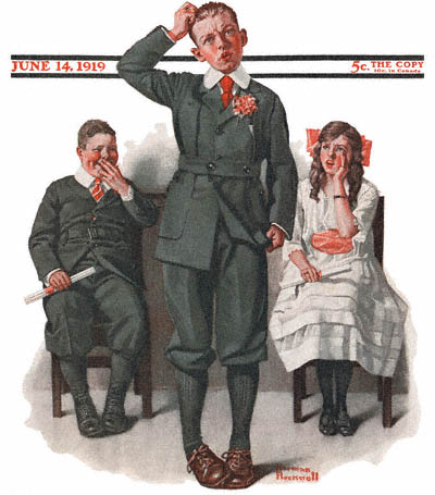 the valedictorian by norman rockwell