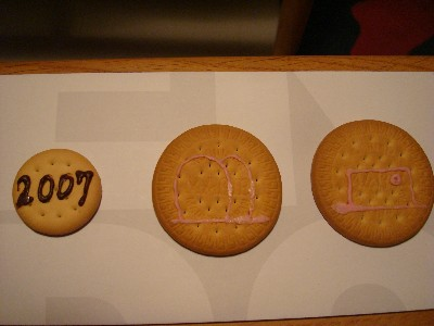 クッキーでネームプレート