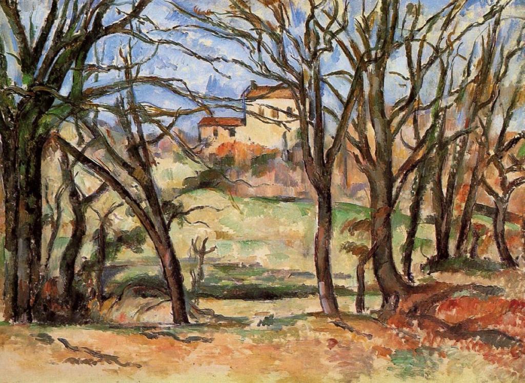 ル・トロネ街道沿いの木と家
