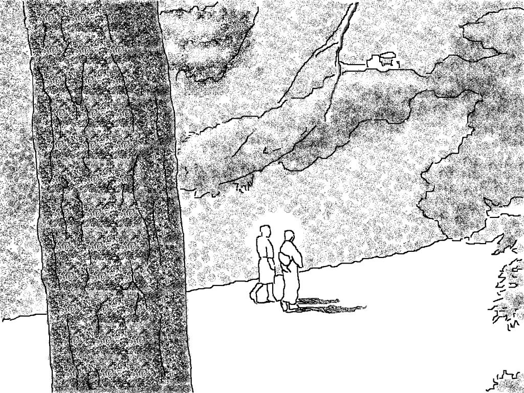 「小早川家の秋」保津川の岸部