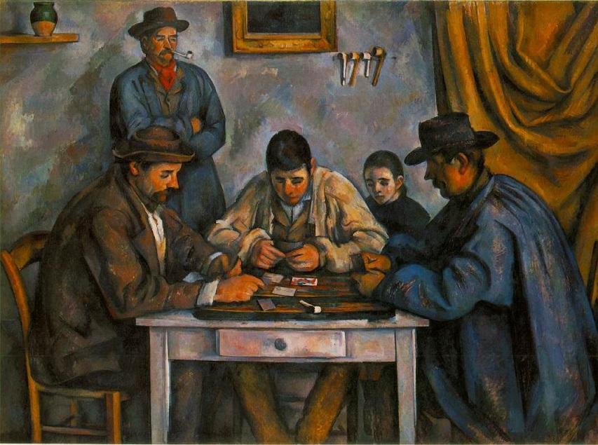 カード遊びをする人々 1