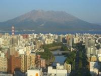 観覧車からの桜島の景色