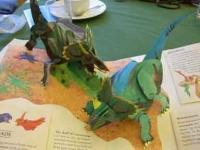 小さい恐竜も精巧な作り