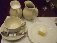 カフェオレとデザート