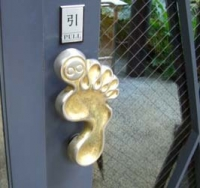 入口のドアもかわいい!