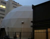丸いテントがプラネタリウム