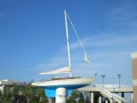 本館横にある裕次郎さんのヨット