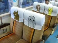 座席はイラスト付きの「どうぶつシート」