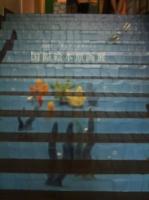 階段もデザインされていてかわいい