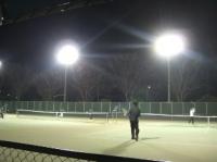 寒いけどテニス!